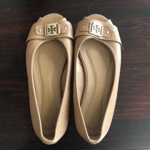 Tory Burch peep toe flats
